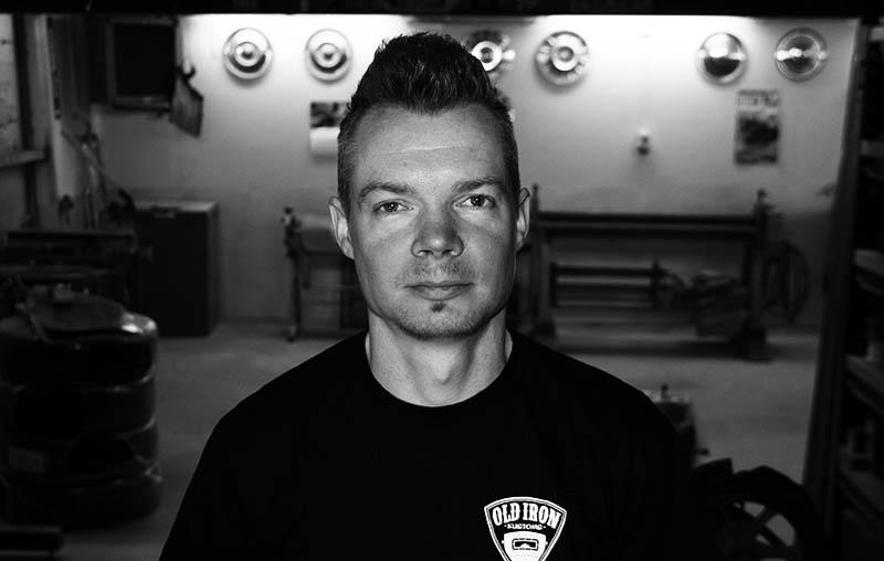 Old Iron Kustoms delägare Cristian Carlsson